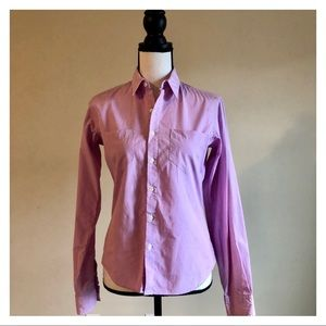 RALPH LAUREN | Purple Button Down Shirt | Size 4